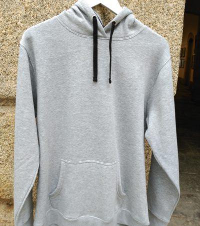sudadera capucha gris