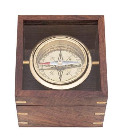 compas navegacion caja con cristal