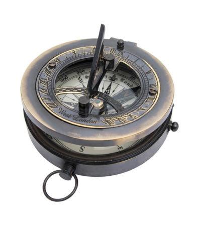 reloj solar con brujula 7,5 cm